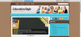 education blogger templates educationstyle blogger template