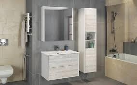 Зеркало-<b>шкаф Comforty Женева</b> 75 дуб белый купить в магазине ...