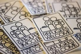 Refugees Welcome: A Storefront Sticker Campaign by Veda Partalo ...