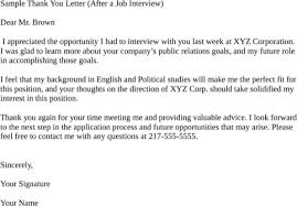 Thank You Letter for Interview for Excel, PDF and Word Sample Thank You Letter (After a Job Interview)