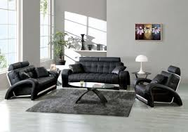 Of Living Rooms With Black Leather Furniture Best Living Room Design Ideas With Modern Black Leather Sofa And
