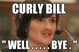"""CURLY BILL """" WELL . . . . . BYE . """" - Slut Sandra Fluke - quickmeme via Relatably.com"""