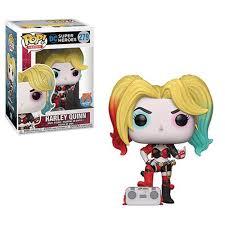 DC Heroes <b>Harley Quinn</b> with Boombox <b>Pop</b>! <b>Vinyl</b> Figure ...