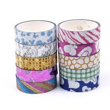 <b>10Pcs Glitter Washi Tape</b> Set Japanese Stationery Scrapbooking ...