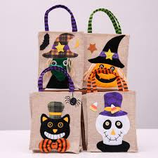 <b>Halloween</b> Gift Canvas Bags Creative Festival Cartoon <b>Pumpkin</b> ...