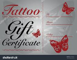 butterfly skull tattoo gift card gift stock vector  butterfly skull tattoo gift card and gift certificate template