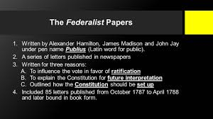 More On The Federalist Papers As The Rosetta Stone For The     Pinterest