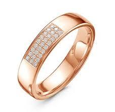 Обручальное <b>Кольцо красное</b> золото 27 бриллиантов - Купить в ...