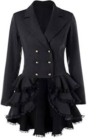 Nihsatin Women's <b>Double Breasted</b> Victorian Steampunk Blazer ...