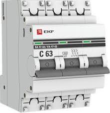 <b>Автоматический выключатель 3P 10А</b> (C) 4,5kA ВА 47-63 EKF ...