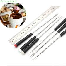 2019 24cm <b>Stainless Steel Chocolate Fork</b> Hot Pot Forks Cheese ...