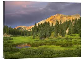 buy feng shui wall art photo red mountain and pond near ouray colorado at buy feng shui