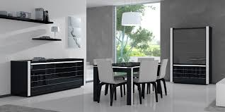 modern rectangle black glass top dining