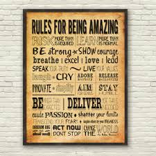 wall art designs canvas motivational wall art for office sample wanelo rules for being amazing amazing wall quotes office