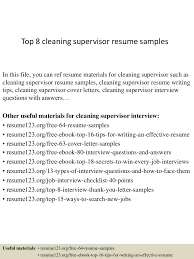 top cleaning supervisor resume samples top gallery of cleaning supervisor cleaning supervisor cover letter