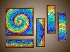 mosaic wall decor: dichroic glass mosaic wall art  dichroic glass mosaic wall art