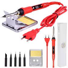 2 in 1 soldering station 700w hot air gun heat temperature adjustable solder iron led digital welding repair
