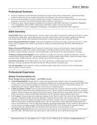 sample resume with summary  seangarrette cosample