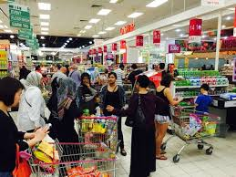 Image result for Malaysians shopping at Supermarkets