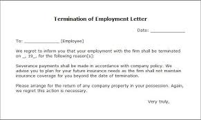 termination letter sample writing professional letters write termination letter