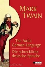 twain essay german language