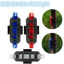 Rechargeable USB LED <b>Bike Tail Light MTB</b> Safety Warning <b>Bicycle</b> ...