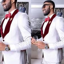 White Men Suits For Wedding Mens Prom Suit Groom Tuxedo ...
