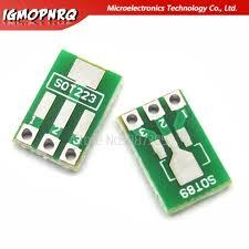 <b>50pcs SOT89 SOT223 to</b> DIP Transfer Board DIP Pin Board Pitch ...