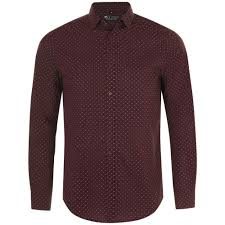 <b>Рубашка мужская BECKER</b> MEN, бордовая с белым, размер M ...