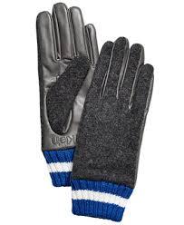 Calvin Klein <b>Leather</b> & Knit Combo <b>Gloves</b> & Reviews - Handbags ...