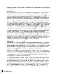 family law essay on law reform   legal studies  year  hsc  family law essay on law reform   legal studies