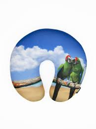 <b>Подушка</b> антистресс для шеи, серия <b>Animal</b>, дизайн Green parrot ...