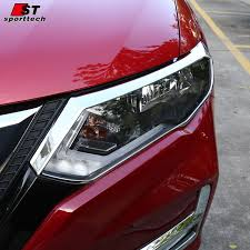 ABS <b>Chrome Front Rear</b> Trunk <b>Headlight Tail Light</b> Lamp Cover ...