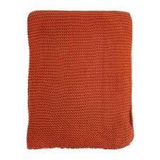 Купить «<b>Плед жемчужной вязки терракотового</b> цвета» () по цене ...
