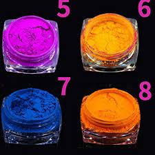 <b>8 Boxes Neon Pigment</b> Color Nail Glitter Making Neon Colors ...