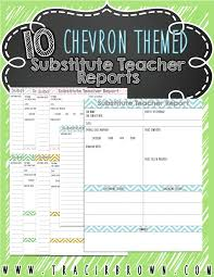 substitute teacher report pack features chevron theme and light substitute teacher report pack features chevron theme and light colors for ink friendly printing