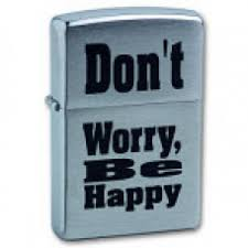 <b>Зажигалка</b> Zippo 200 <b>Don</b>`<b>t worry</b> Brushed Chrome