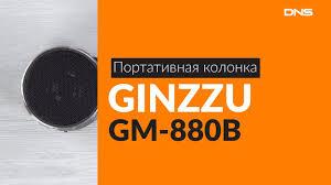 Распаковка портативной <b>колонки GINZZU GM-880B</b> / Unboxing ...