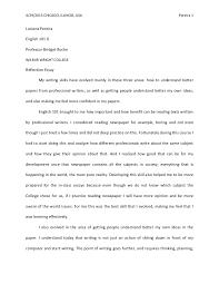 reflection essay final draft  luciana medina