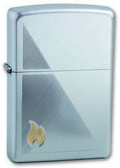 <b>Зажигалка Zippo Flame с</b> покрытием Satin Chrome, латунь/сталь ...