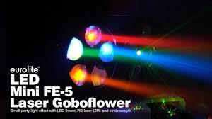EUROLITE <b>LED</b> Mini FE-<b>5 Laser</b> Goboflower - YouTube