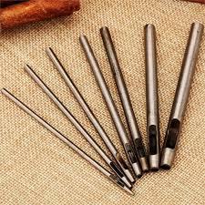 4pcs/set <b>Steel</b> Spike <b>Rivet</b> Studs Punch Setter <b>Tool</b> for Leather Craft ...