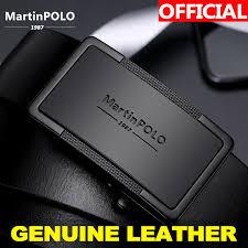 <b>MartinPOLO Men</b> Belt Genuine Leather Automatic Buckle Luxury ...