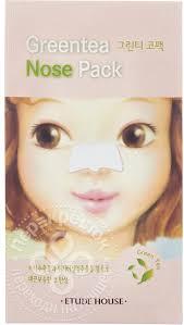 <b>Патчи для носа</b> Etude House Green Tea Nose Pack <b>очищающие</b> 65г