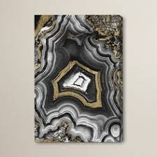 the oliver gal adoregeo canvas wall art adorns modern spaces with sleek elegance this black and white stone inspired design boasts gilded accents for a cafe lighting 8900 marrakech wall