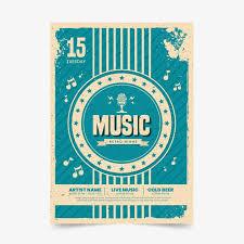 Free Vector | <b>Music</b> poster in <b>retro style</b>