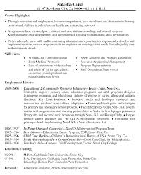 sample resume volunteer experience resume builder sample resume volunteer experience resume sample for a volunteer position the balance good objective statement
