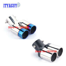 New Accessories Stainless Steel Twins Rear <b>Exhaust Muffler Tail</b> ...