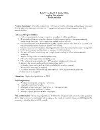 job description resume receptionist job description resume medical  to write a receptionist resume front desk medical receptionist resume description duties
