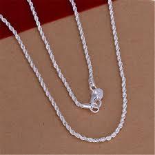 Hot Sale <b>Retail Wholesale</b> Super Shiny <b>Silver</b> Necklace Women ...